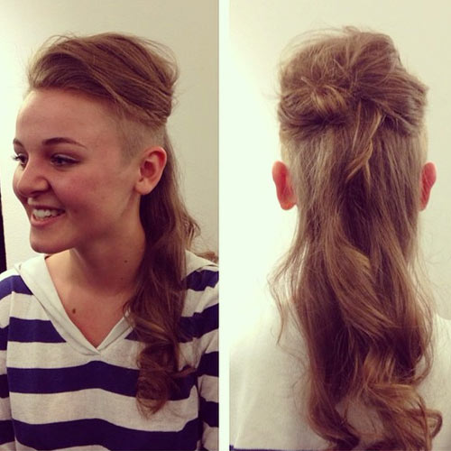 Women with Long Hair Undercut Hairstyles