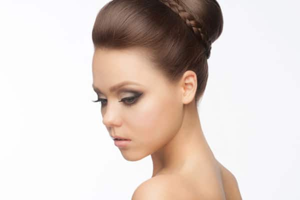 Braids Are A Playful Addition To Any Formal Updo Whether Youre Heading Dance Wedding Or Black Tie Event Have Your Stylist French Braid Hair From