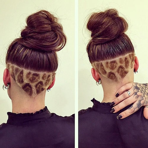 Leopard Print Undercut for Women