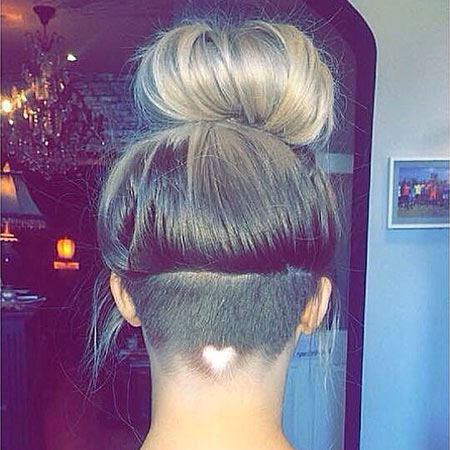 heartshaped hair design