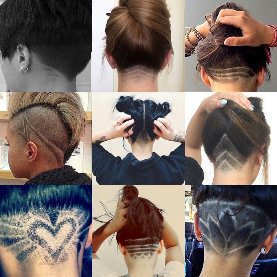 Nape Undercut Designs Hairstyle Stars