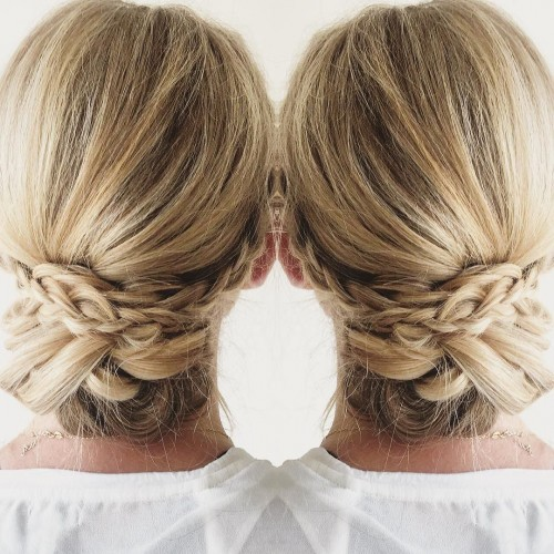 blohaute-Braided Updo Wedding Bridal