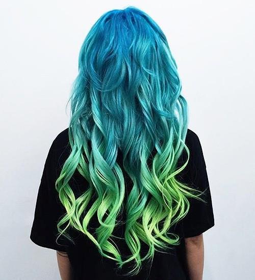 dearmiju_-_blue ombre hair color