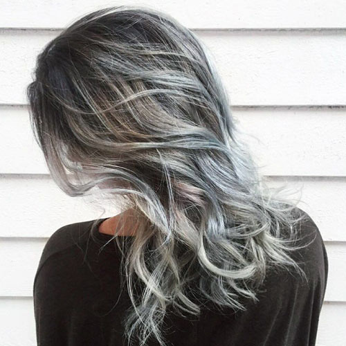 How To Add Grey Highlights To Hair