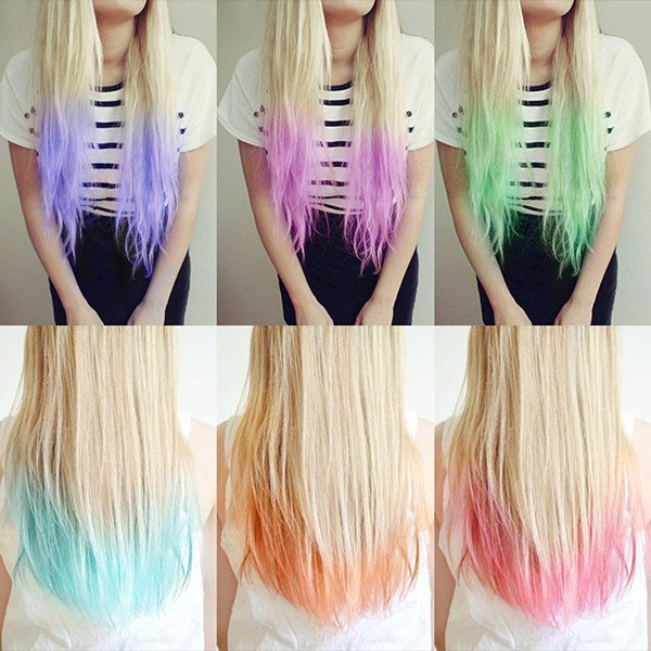 hair color ideas dip dye hair