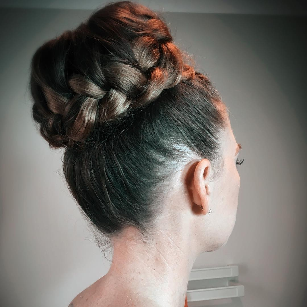 Big Bun Hairstyles. Updo Hairstyle Of Priyanka Chopra. braided ...