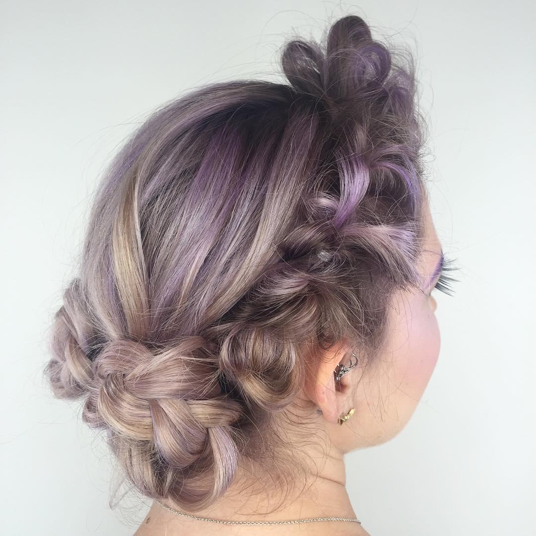chitabeseau-braided-updo-lavender-hair-color