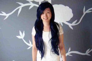 How to dye blue black hair?